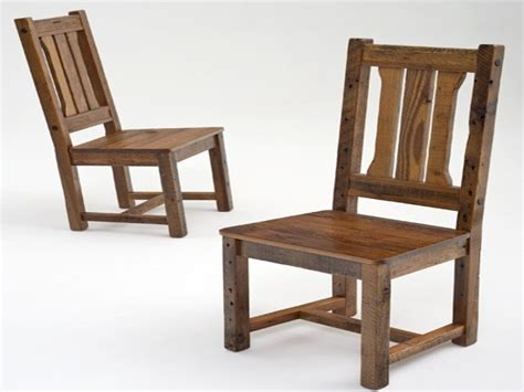 reclaimed wood dining room furniture simple chair plans