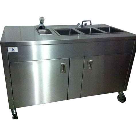 portable kitchen sink home depot portable sink depot stainless steel 4 compartment sink