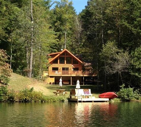 lake lure cabin rentals lake lure area gorgeous waterfront on mirror vrbo