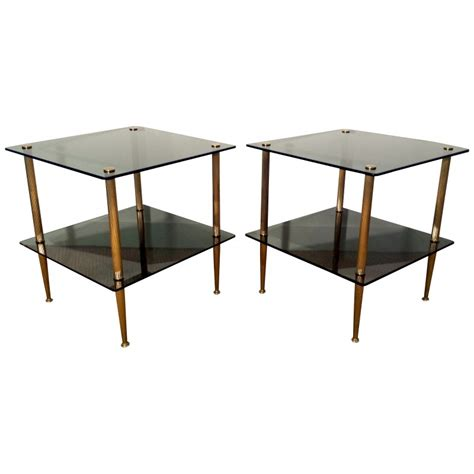 vintage table ls 1950s vintage brass glass coffee tables 1950s set of 2 for