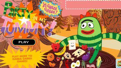 Yo gabba gabba let's make a scene. Yo Gabba Gabba - Party In My Tummy   Yo Gabba Gabba! : Games for Preschoolers