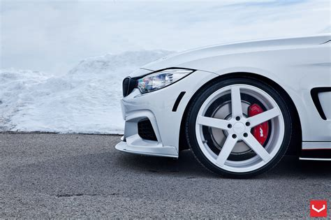 White Bmw Rims by Bmw 4 Series Coupe With White Wheels Is But