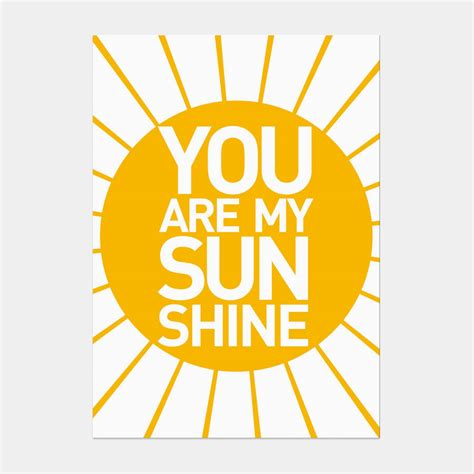Rug Print by You Are My Sunshine Postcard By Showler And Showler