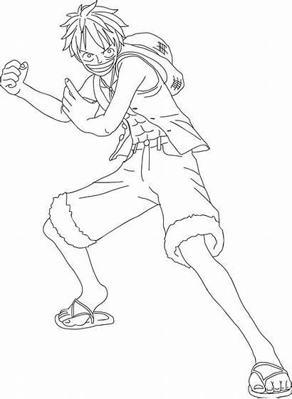 Luffy Mewarnai Piece Gambar Anime Topi