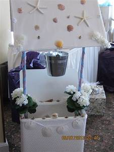 beach themed wishing well my dil nicole made and i helped With wedding shower wishing well