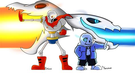 Sans And Papyrus Gaster Blaster Undertale Amino