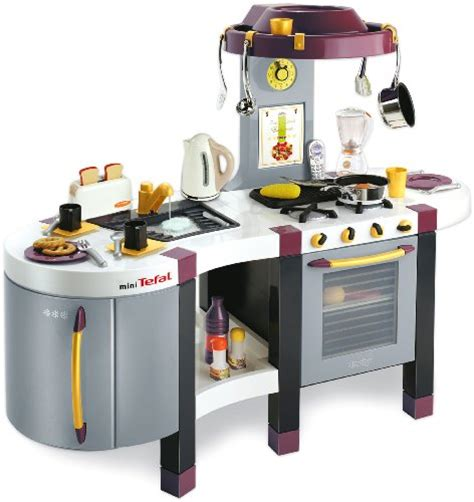 cuisine mini tefal smoby touch excellence deluxe play kitchen