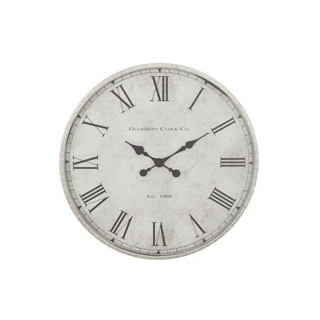 decmode contemporary vintage metal analog wall clock