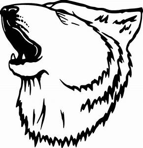 Tribal Howling Wolf Tattoo Sketch Coloring Page