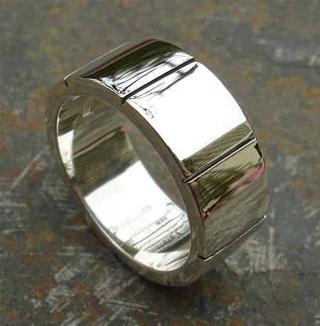 chunky silver ring  men lovehave   uk