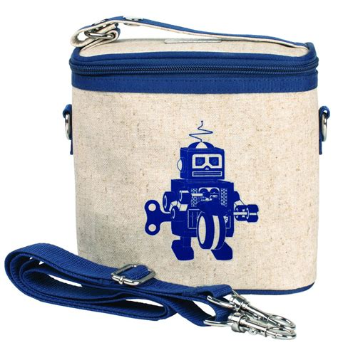 So Young Insulated Cooler Bag  Small Blue Robot Au