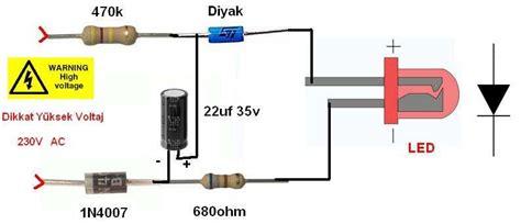 Led Flasher Circuit Simple Transformerless