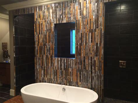 "Fused Glass ""Bamboo"" Wall   Designer Glass Mosaics"