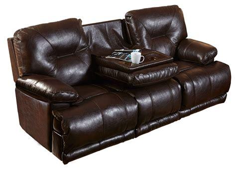 reclining sofa with table mercury godiva power lay flat reclining sofa with drop table 643345 1223 29 3023 29 catnapper