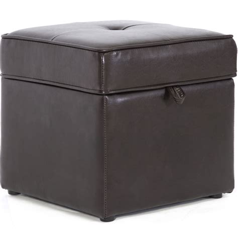 faux leather ottoman faux leather storage ottoman in ottomans