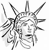 Liberty Statue Coloring Drawing Face Pages Cartoon Sheet Cliparts Head Clipart Coloring4free July Liber Draw Sketch Clip Drawings Printable Oppresso sketch template
