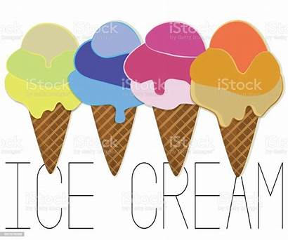 Gelato Ice Cream Cartoon Clipart Illustration Cake