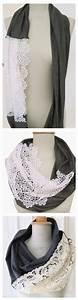 Schal Selber Nähen : angesagter loop schal mit spitze aus weichem jersey jersey loop scarf with laces casual ~ Orissabook.com Haus und Dekorationen