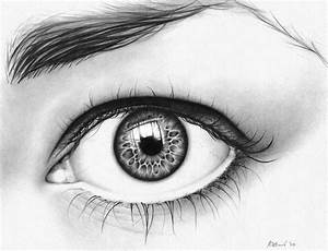 reflection drawing eyes