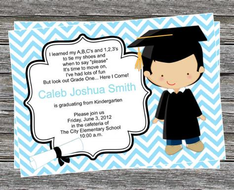 preschool graduation invitation 38 printable graduation invitations psd ai free 86684
