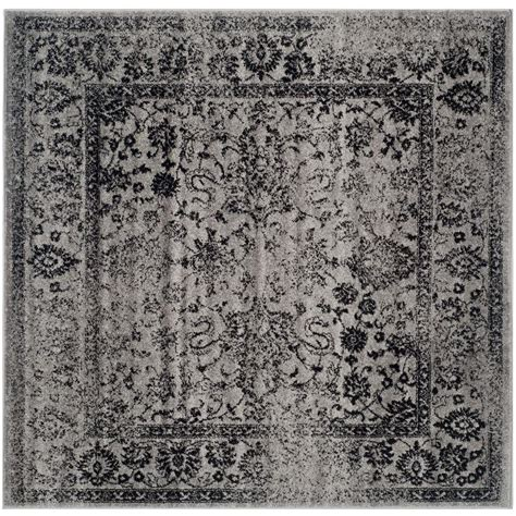 area rugs black safavieh adirondack grey black 6 ft x 6 ft square area 1335