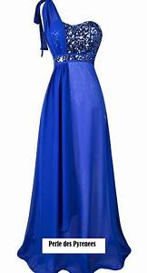 robe de soiree quot illanaquot t 38 bleue strass perle des With robe de soirée bleu electrique