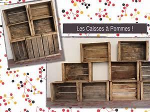 Caisse De Pomme : caisses a pommes en bois vintage 1 rue vintage ~ Teatrodelosmanantiales.com Idées de Décoration