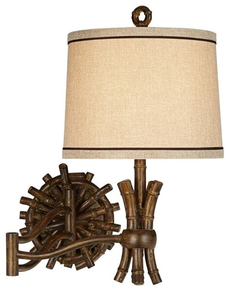 tropical wall sconces pacific coast bamboo sailor wall sconce walnut stain