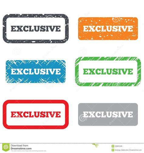 Exclusive Sign Icon. Limited Edition Symbol Stock Vector ...