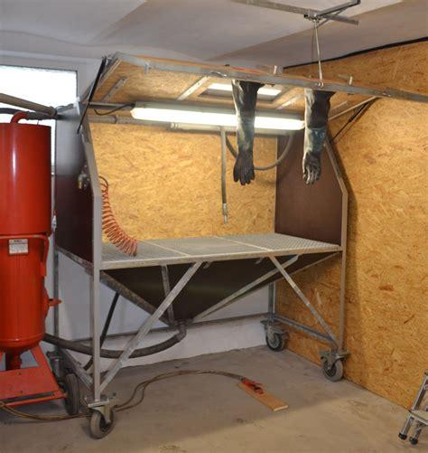 eigenbau sandstrahlkabine sandstrahler diy sandblasting cabinet sandblaster