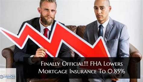 The mortgage loan is funded by a lending institution, such as a mortgage company, bank, savings and loan association and the mortgage is insured by hud. FHA Lowers Mortgage Insurance To 0.85% On Annual FHA MIP