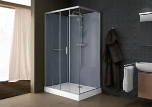 cabine de douche kara rectangle 120x80 porte coulissante 2 With porte douche 120x80