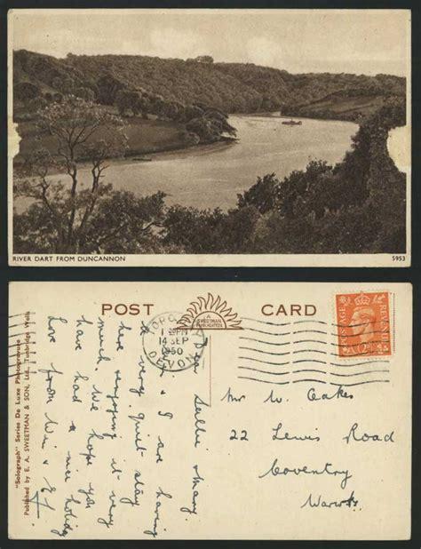 Ebay Boats For Sale Devon by River Dart From Duncannon Devon 1950 Old Postcard Boat