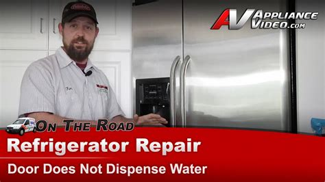 refrigerator repair  dispensing water ge hotpoint rca gshjsxasb youtube