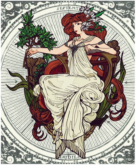 Mucha Art Nouveau Style By Dokinana On Deviantart
