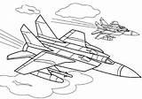 Coloring Fighter Pages Plane Aircraft War Boys Atv Raskraski Coloringtop sketch template