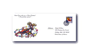 printable santa envelopes christmas printables