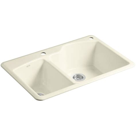cast iron kitchen sink kohler wheatland drop in cast iron 33 in 2 5133