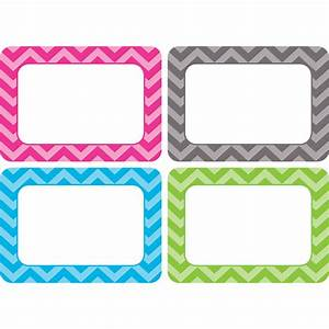 Chevron name tags labels multi pack tcr5526 teacher for Locker tag templates