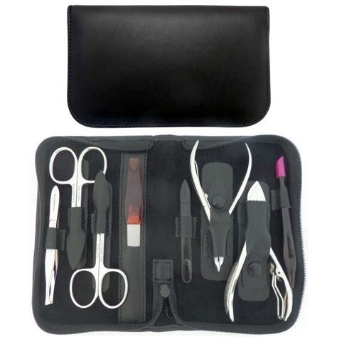 piece professional black manicure  pedicure set
