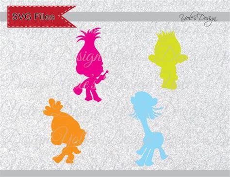trolls characters princess poppy  logo svg inspired
