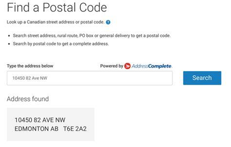What Is The Postal Code Of Edmonton, Alberta, Canada?