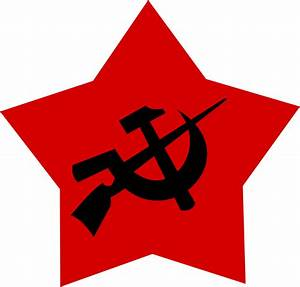 Communist Logo black hammer and sickle and gun by ...