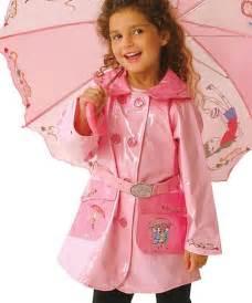 Toddler Girls Raincoats Pink