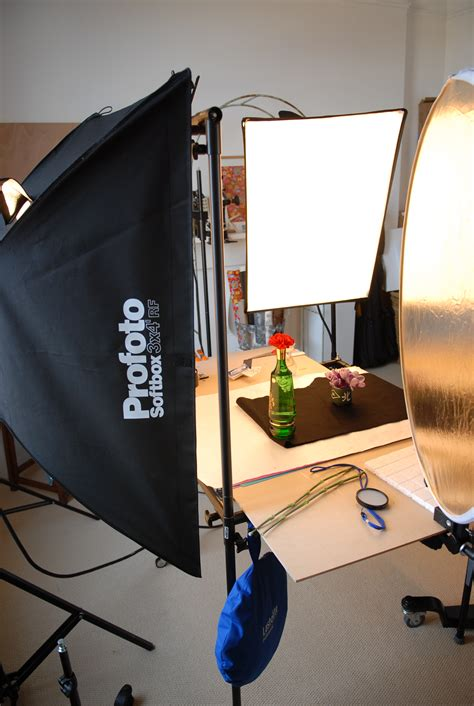 filestill life photography studio setup  softboxes