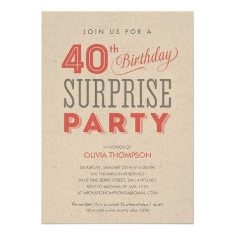 Surprise 40th Birthday Invitations WordingFREE PRINTABLE