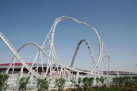 Ferrari world abu dhabi is a mostly indoors amusement park on yas island in abu dhabi, united arab emirates. Ferrari World Abu Dhabi - Flying Aces Rollercoaster - Изображение Мир Феррари в Абу -Даби, Абу ...