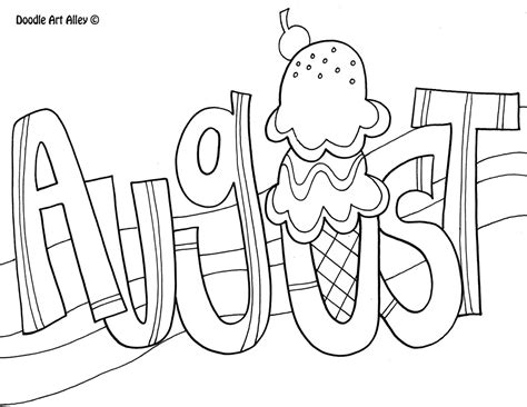 august coloring pages    print