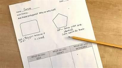 Math Strategy Thinking Think Students Wonder
