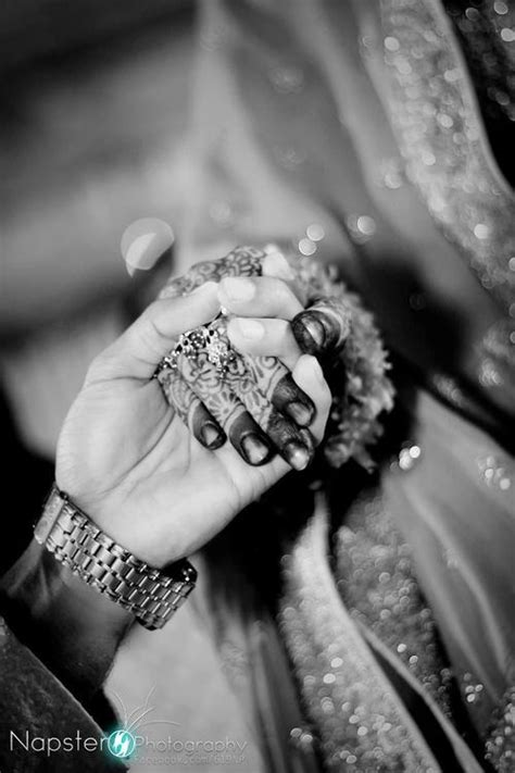 South Asian Wedding Bride & Groom Holding Hands   Marriage